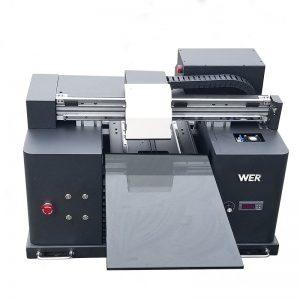 2018 यूवी एलईडी फ्लैटबेड प्रिंटर ए 4 डीटीजी टी शर्ट लोगो प्रिंटिंग मशीन बिक्री के लिए WER-E1080T