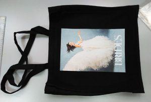 यूके ग्राहक से ब्लैक नमूना बैग डीटीजी वस्त्र प्रिंटर द्वारा मुद्रित किया गया था
