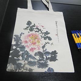 ए 2 टी शर्ट प्रिंटर WER-D4880T द्वारा कैनवास बैग मुद्रण नमूना