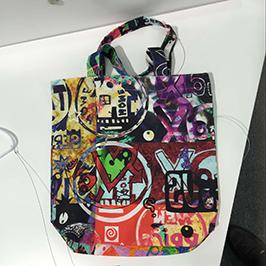 ए 1 डिजिटल कपड़ा प्रिंटर WER-EP6090T द्वारा गैर बुना बैग मुद्रण नमूना