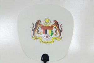 ए 1 आकार यूवी प्रिंटर 6090 यूवी द्वारा मुद्रित प्लास्टिक फैन नमूना