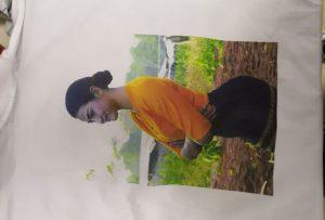 WER-EP6090T प्रिंटर से बर्मा क्लाइंट के लिए टी शर्ट प्रिंटिंग नमूना