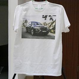 ए 3 टी-शर्ट प्रिंटर WER-E2000T 2 द्वारा व्हाइट टी-शर्ट प्रिंटिंग नमूना